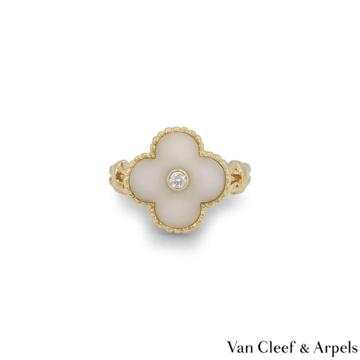 Van Cleef & ArpelsYellow Gold Vintage Alhambra Ring